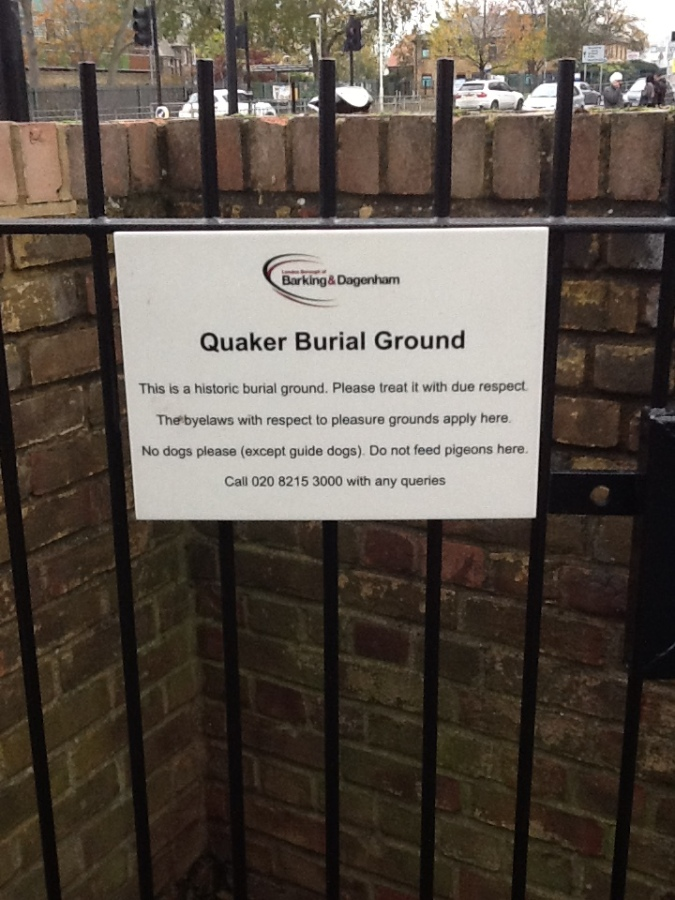 Burial Ground sign